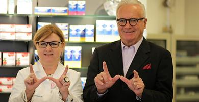Wechseljahre-Beraterin Brigitte Roggenbauer und Dr. Schreiber.