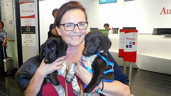Gabi engagiert sich als Hunde-Flugpatin für PAWS
